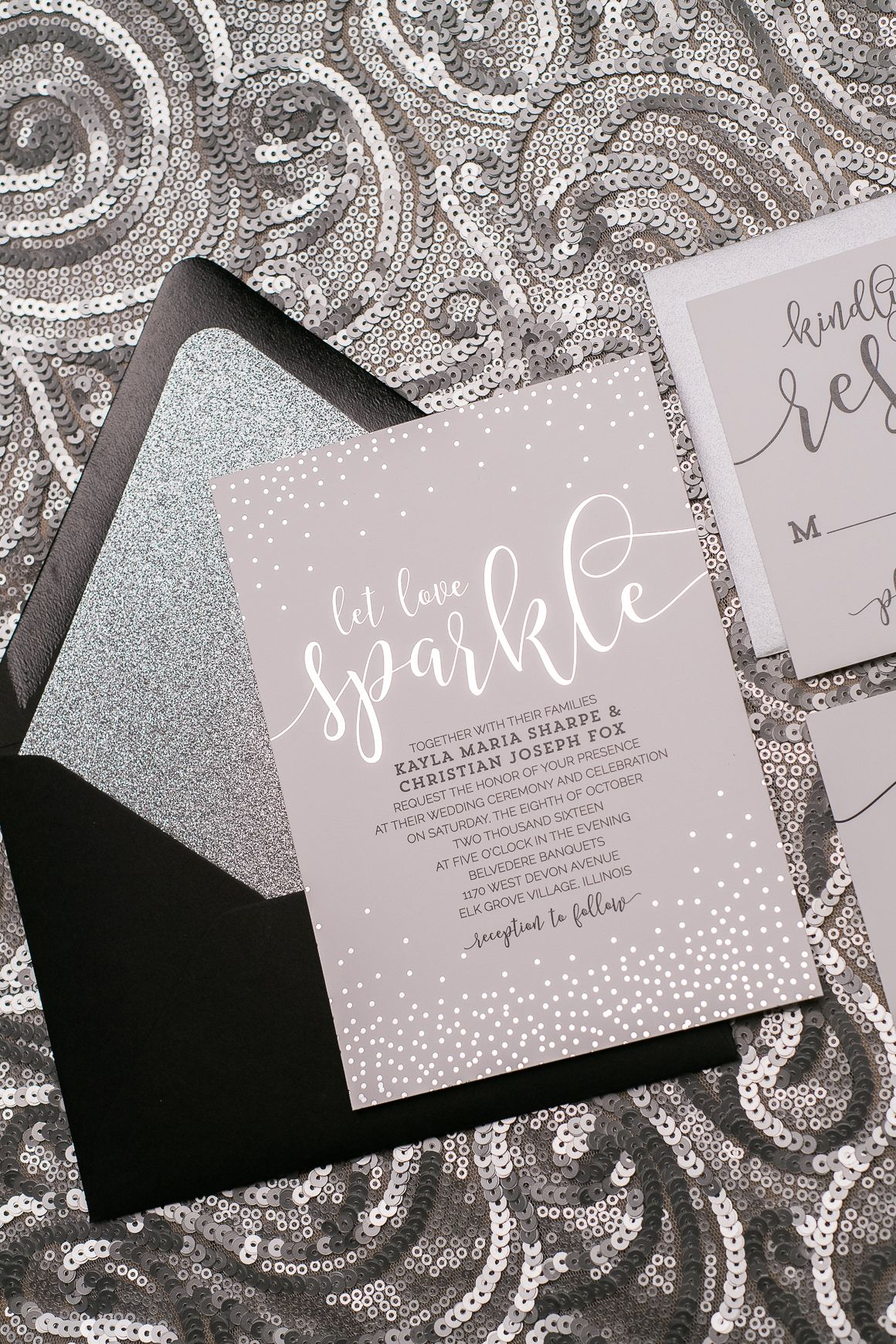Sparkle, Foil, Silver, Black, Digital, Glitter, New Year\'s Eve ...