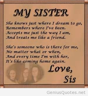 Love My Big Sister Quotes Pleasing Love Sis Quote For My Sister Big Siser Quote  Quotes  Pinterest
