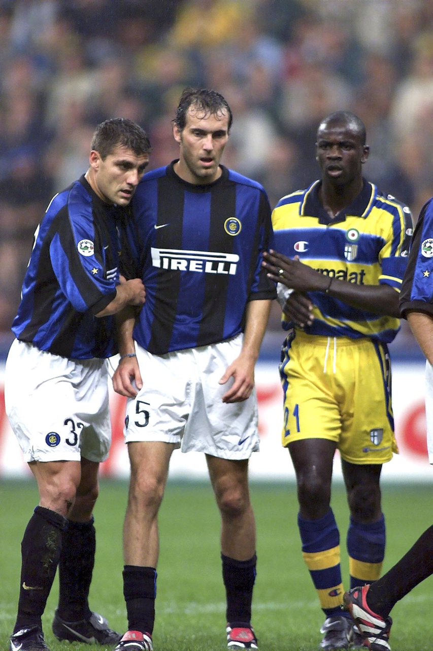 Christian Vieri Laurent Blanc Inter Milan et Lilian Thuram