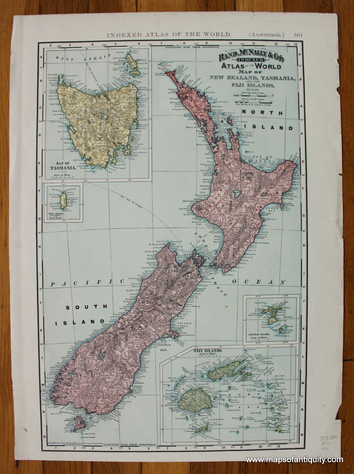 s Indexed Atlas of the World Map