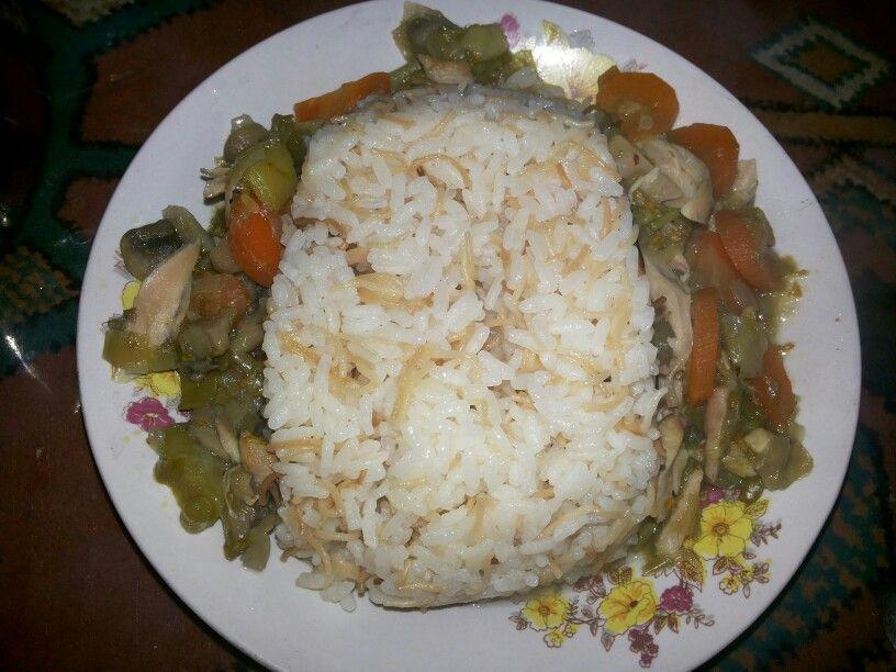 شوربة خضار بالدجاج Food Rice Grains