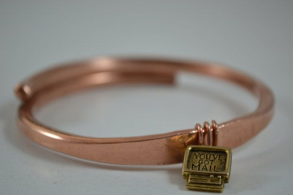Overlapping Copper Bracelet Solid Copper by CreationsBydeNice