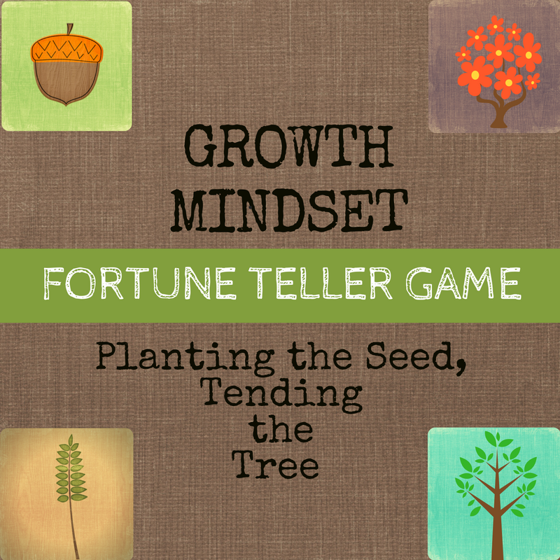 Growth Mindset Solution Focused Game Fortune Teller
