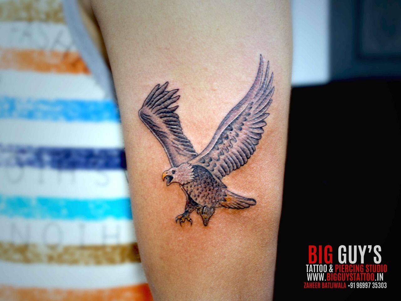 Eagle tattoo by big guys tattoo parlour tattoos for guys