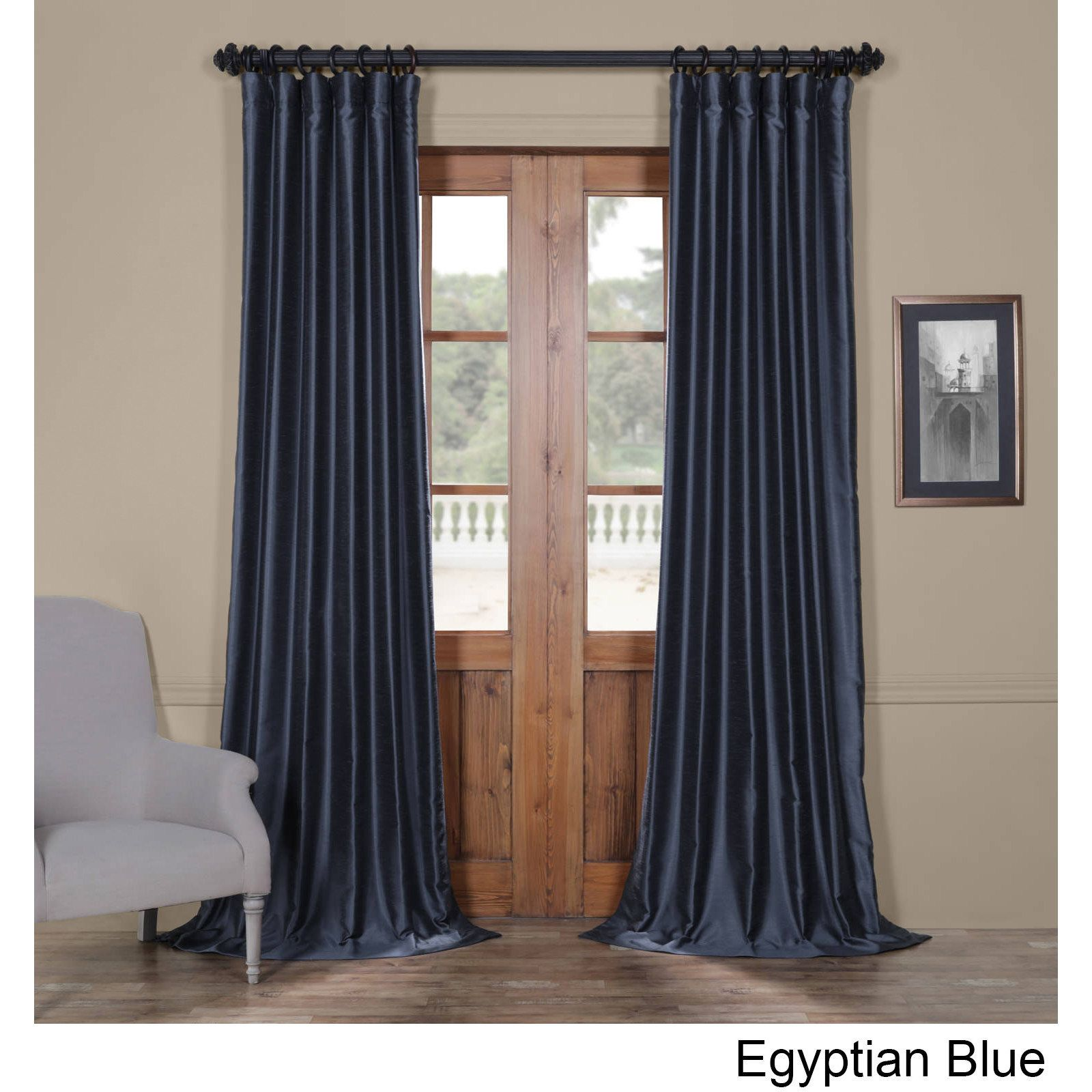 curtain kitchen oyster percent com united home dupioni amazon dp silk austrian by valance curtains inch