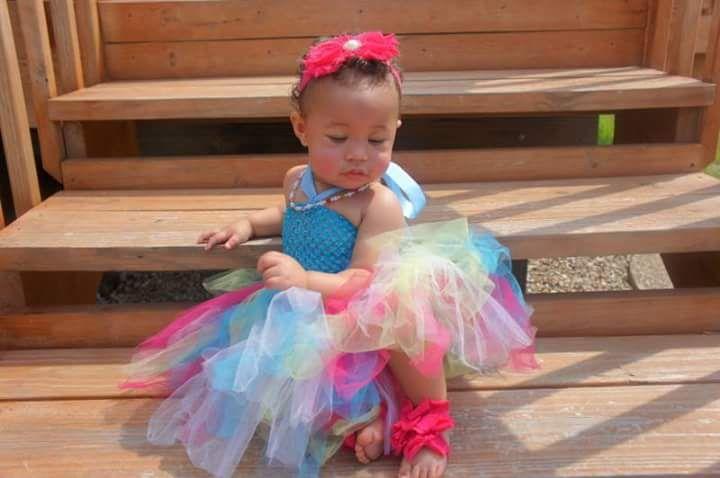 Journee McKenna. Blasian Baby. First Birthday 1st Birthday