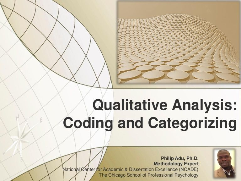 Qualitative Analysis Coding And Categorizing Philip Adu Ph D