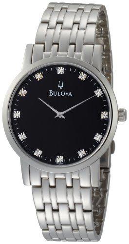9b1fc010089 Bulova Men s 96D106 Diamond Black Dial Bracelet « Clothing Adds for your  desire. Pulseiras PretasPulseira De RelógioRelógios ...