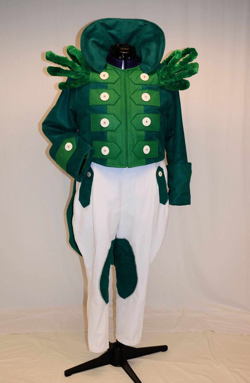 Green curtain oz - Gatekeeper Green Fleece Long Sleeve Green Tshirt Glued On Gold Felt Buttons