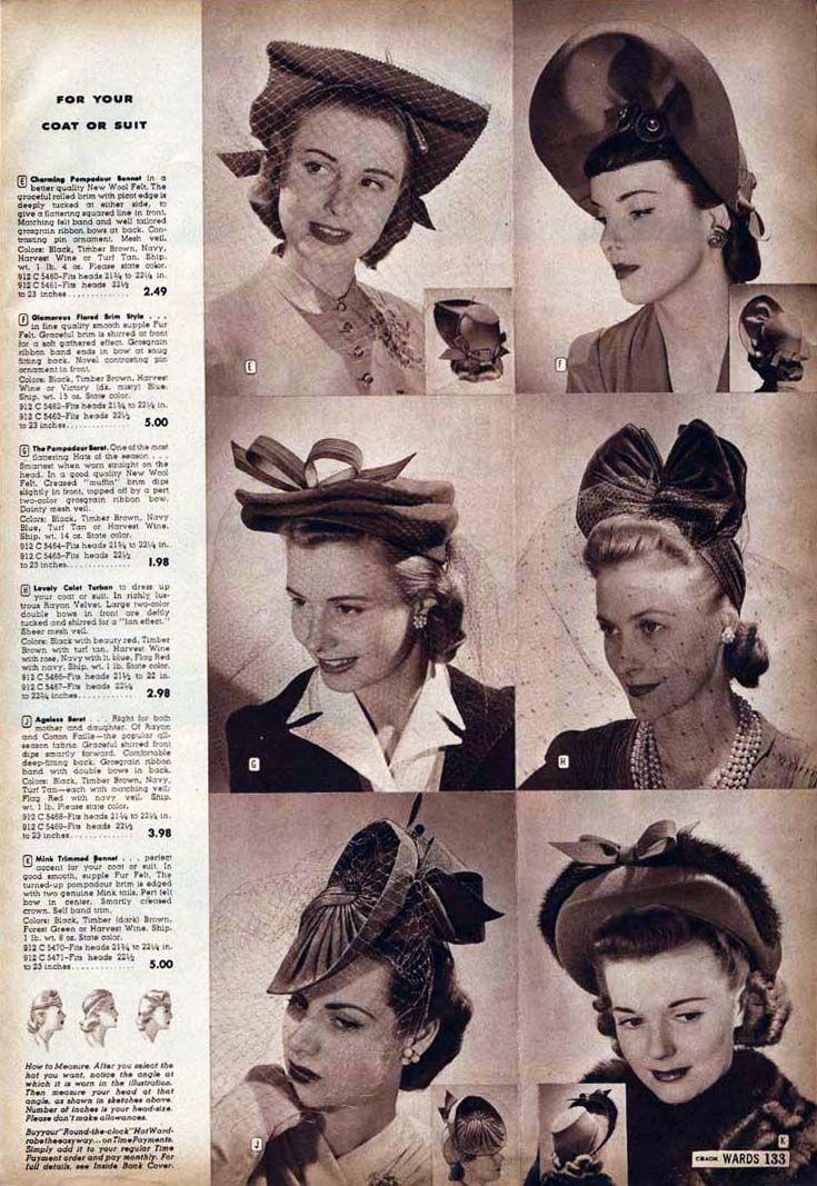 1940's hats - Google Search | vintage hats | Pinterest ...