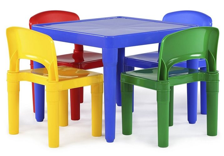 Tot Tutors Kids Plastic Table and 4 Chairs Set Only $32.06 - https://www.swaggrabber.com/?p=325600
