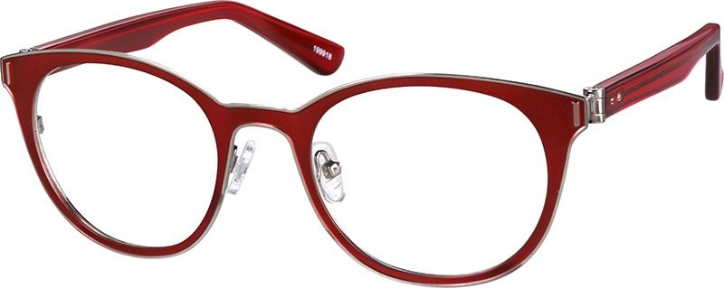 770a396474d Zenni Womens Round Prescription Eyeglasses Red Tortoiseshell Mixed ...