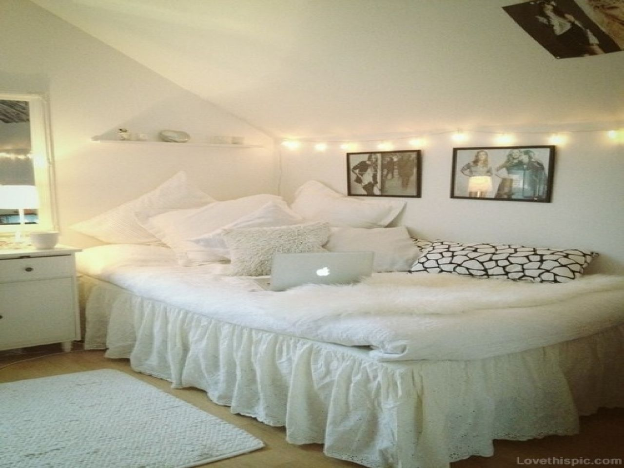 Cute Girl Bedroom Ideas White Teen Room Chair Tumblr
