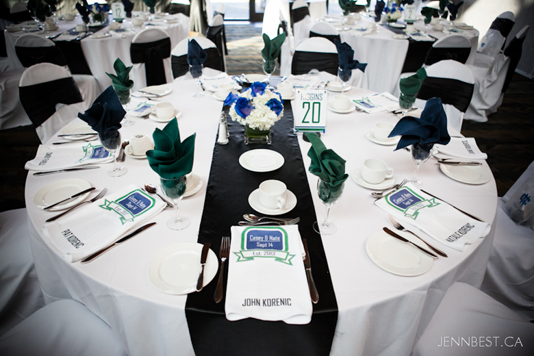Vancouver Canucks Table Setting complete with Player jersey ...