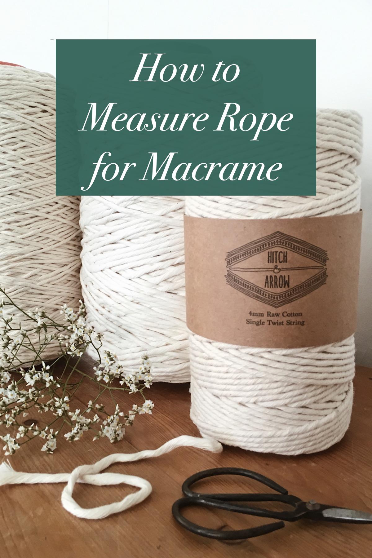Quelle Ficelle Pour Macramé comment mesurer la corde nécessaire en macramé (avec images