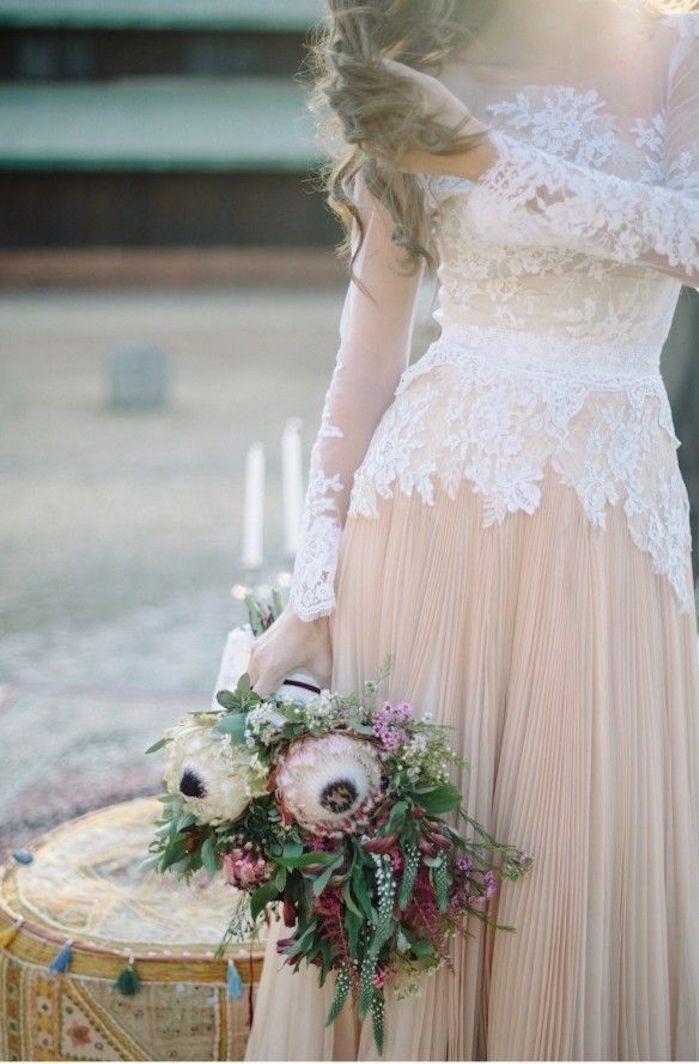 Bohemian Wedding Dresses for Stylish Brides - MODwedding