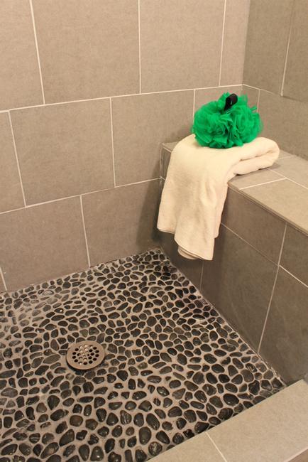How To Grout Pebble Tile Tiles Decorative Decor