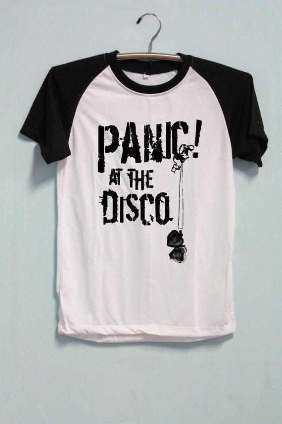 ac5a4dff Panic! At The Disco Shirt Short Sleeve Short Baseball Shirt TShirt T-Shirt  Raglan Unisex Men Women Size S M L XL by CrazyTop on Etsy