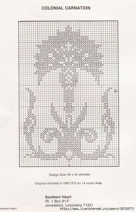 Colonial Carnation • 4/4 - From a Set of Traditional Designs | CROSS ...