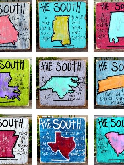 9 southern state signs