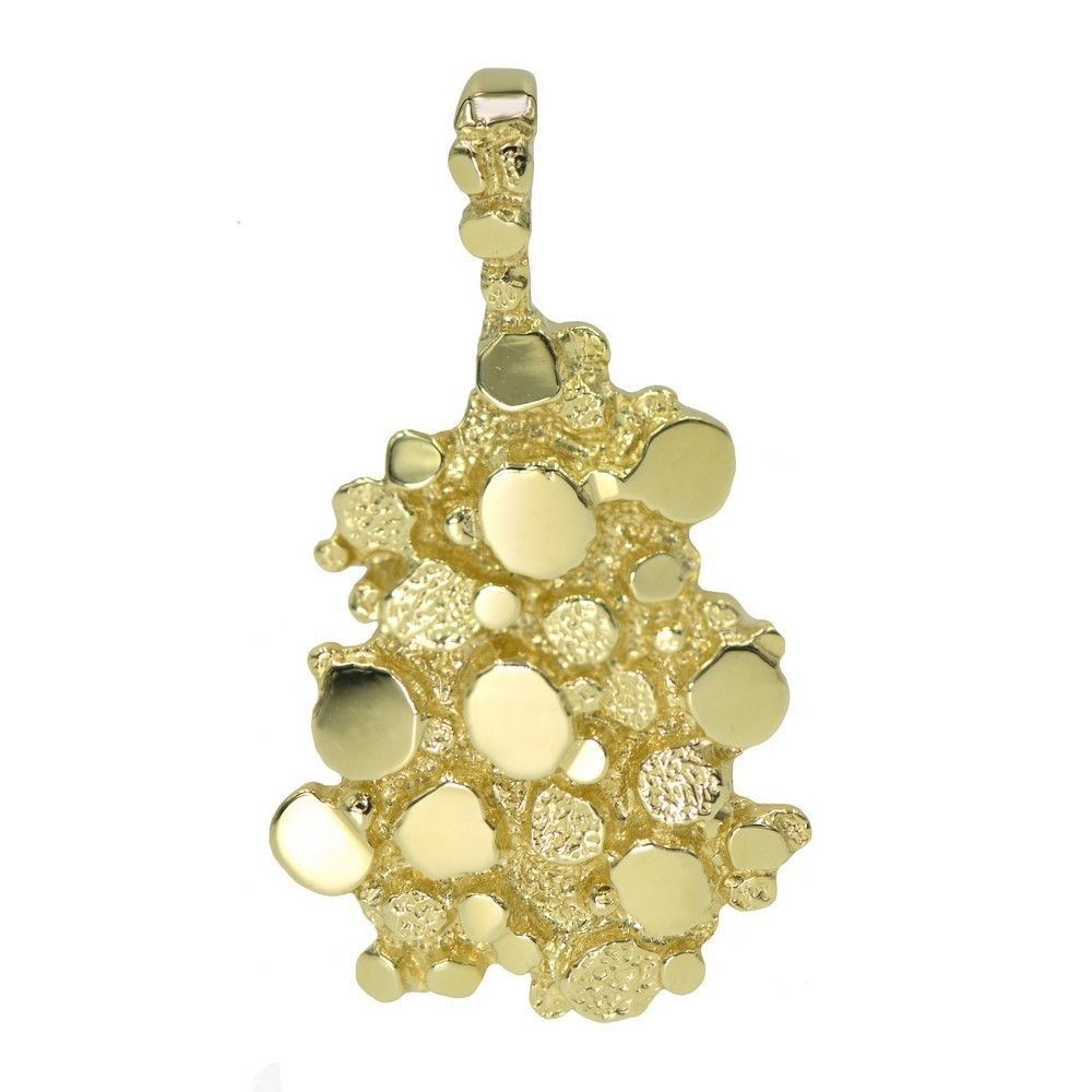 Mens 14k gold nugget pendant charm products pinterest mens 14k gold nugget pendant charm aloadofball Images