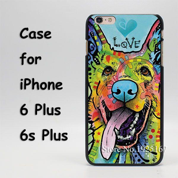 9012 german shepherd dog hard black Case Cover for iPhone SE 4 4s 5 5s 5c 6 6s 6 Plus 6s Plus