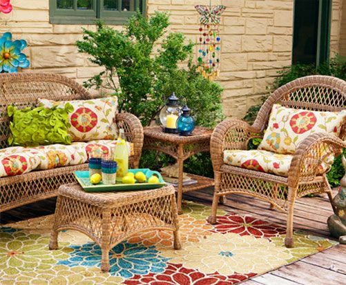 Pier 1 s Floral Terrace Cushions with Coco Cove Outdoor Furniture