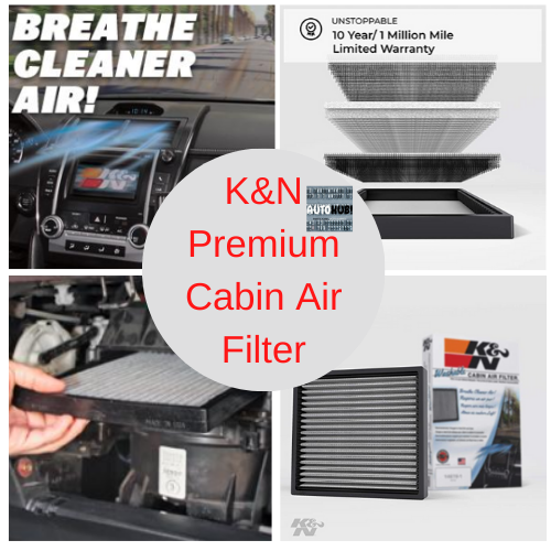 K&N Premium Cabin Air Filter High Performance, Washable
