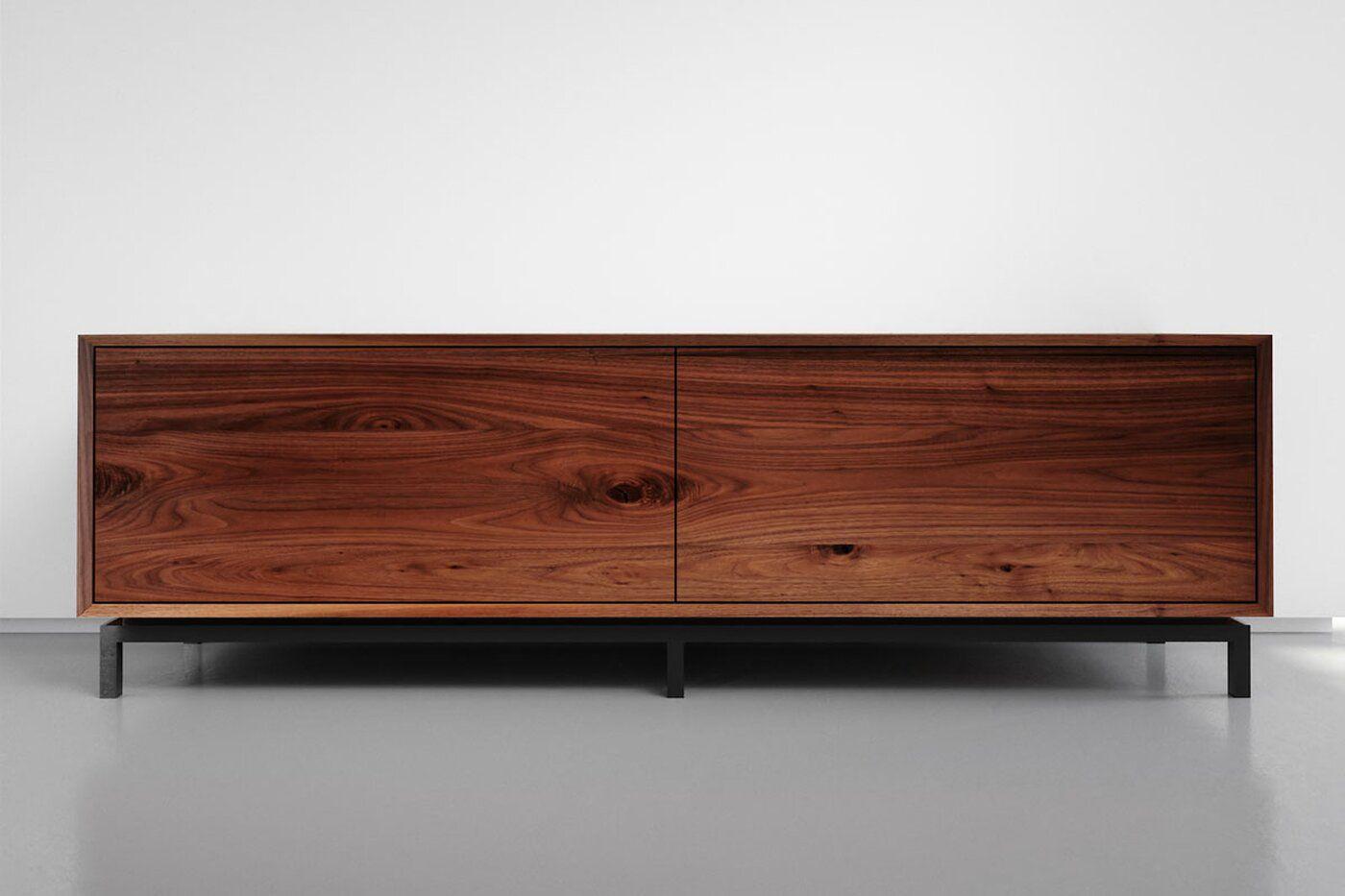 Holz Sideboard Modern Amerikanischer Nussbaum Serie X Line