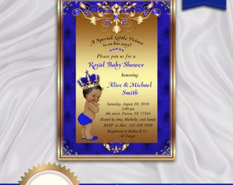 Prince Baby Shower Invitation Little Prince Royal Baby Boy