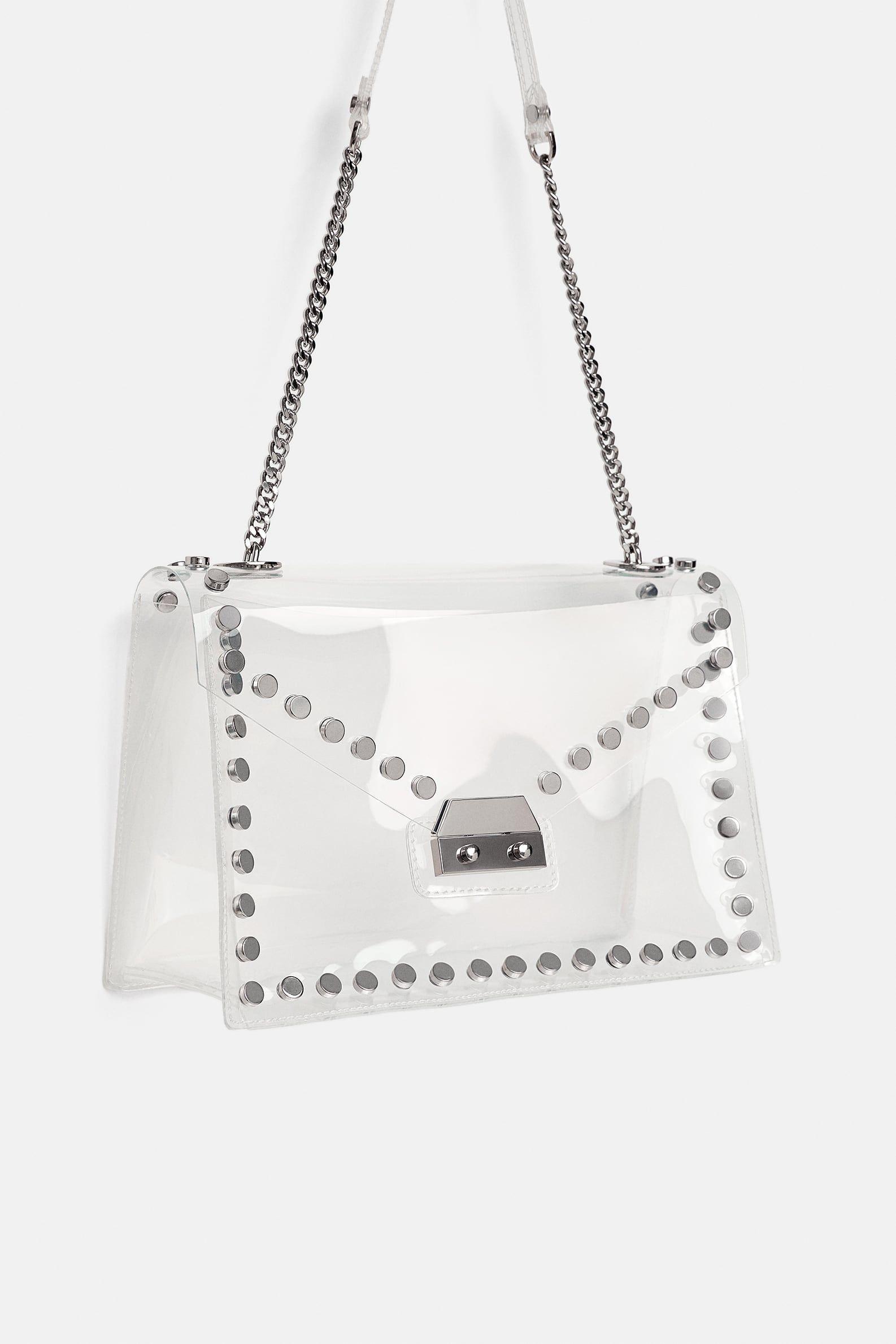 670ab68afdbda Image 1 of STUDDED VINYL CROSSBODY BAG from Zara | fashion vibez ...