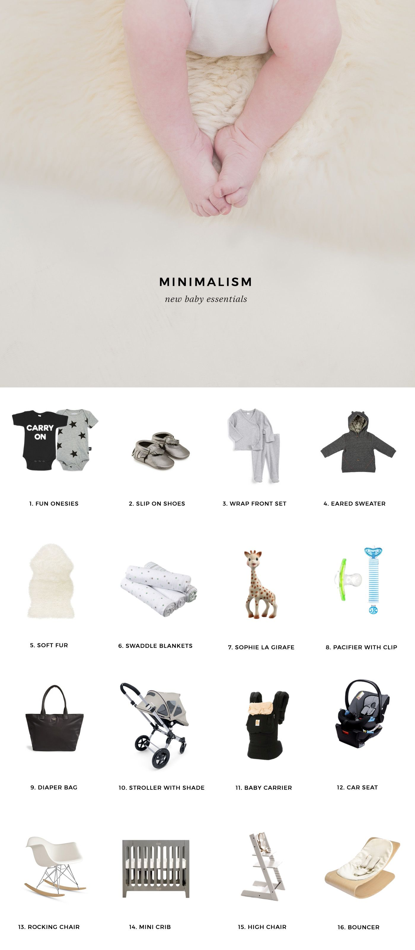 Minimalist Baby Essentials Just add a Basal Baby subscription and