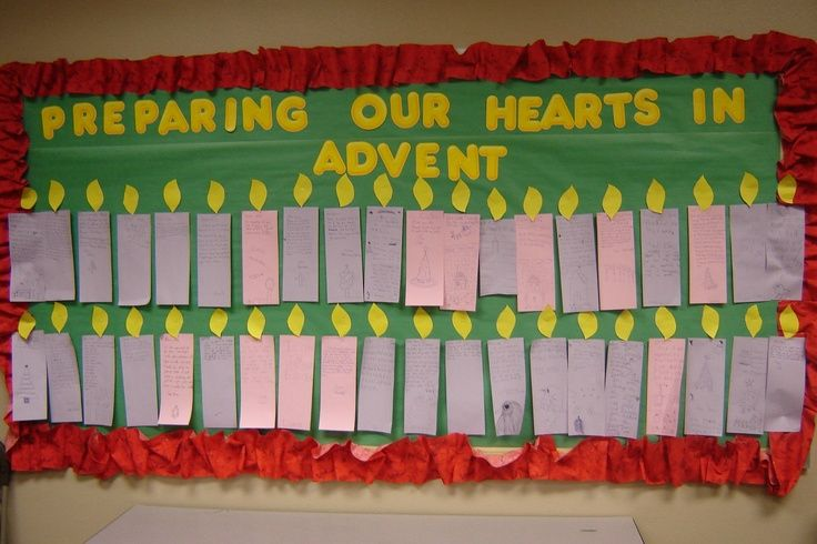 Advent Calendar Bulletin Board : Advent bulletin board ideas religion preschool bulietin