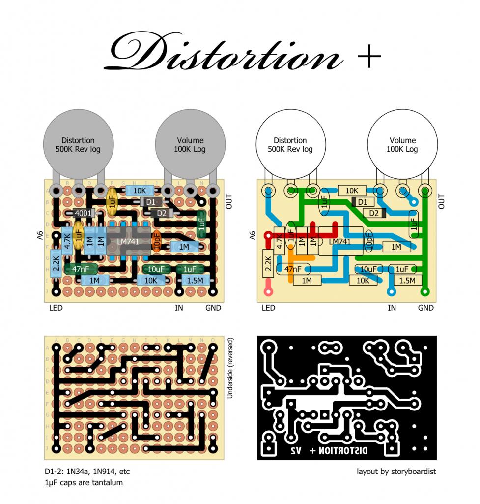electrical wiring : mxr2bdistortion2b252b distortion plus wiring diagram  off boa distortion plus wiring diagram off-board (+98 wiring diagrams)