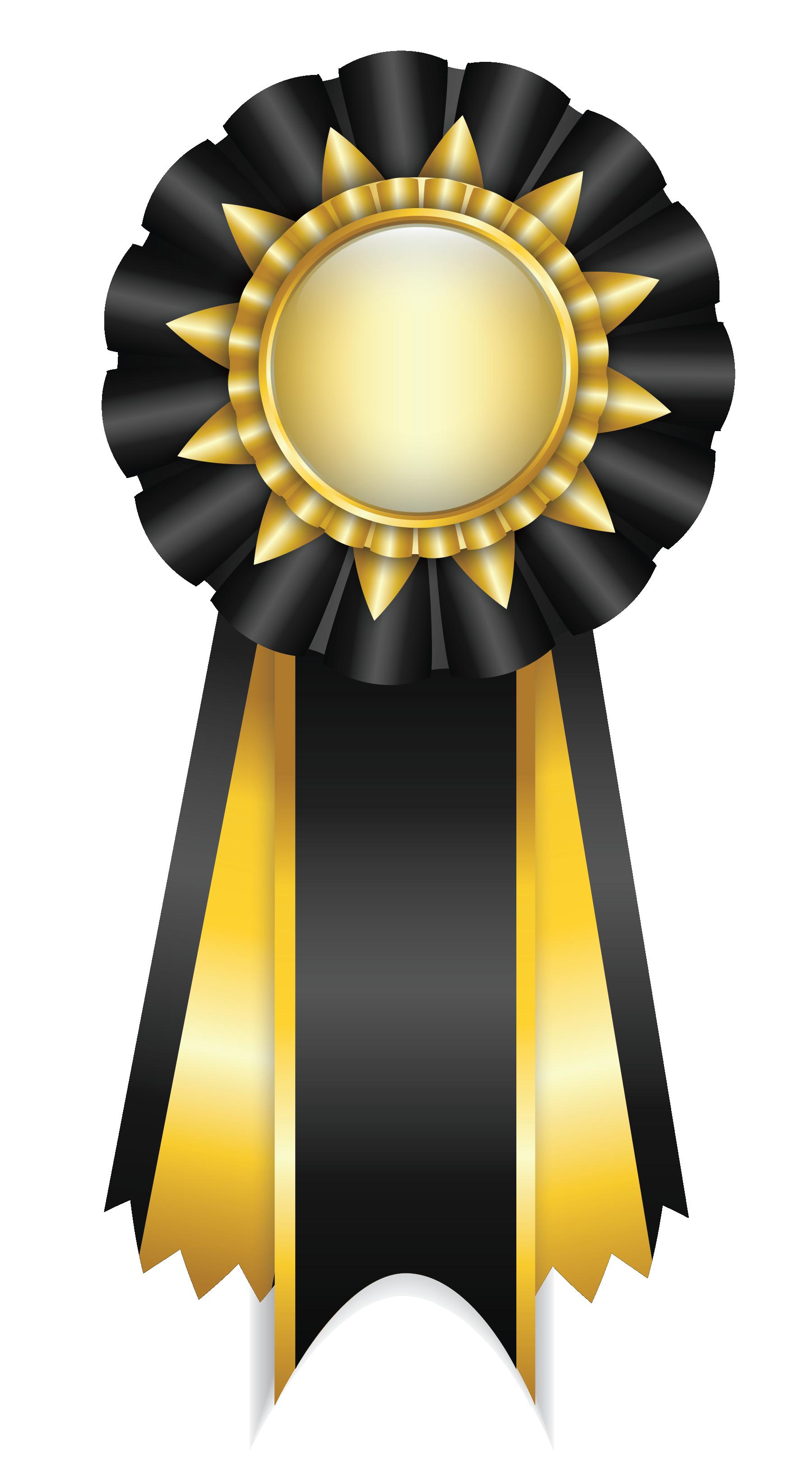 Black Rosette Ribbon Png Clipart Picture Ribbon Png Award Ribbon Clip Art
