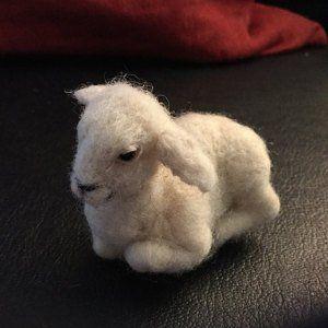 Naaldvilt dier, klein lam, naaldvilt dieren, vilt lam, voor aangepaste bestellingen