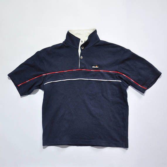 856c9fb45a Vintage ELLESSE Botton Up Casual Shirt / ELLESSE Polo Shirt / 90s ...