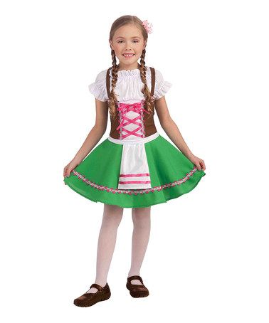 0310421f4 Take a look at this Green Heidi Dress-Up Oufit - Girls by Forum Novelties  on #zulily today!