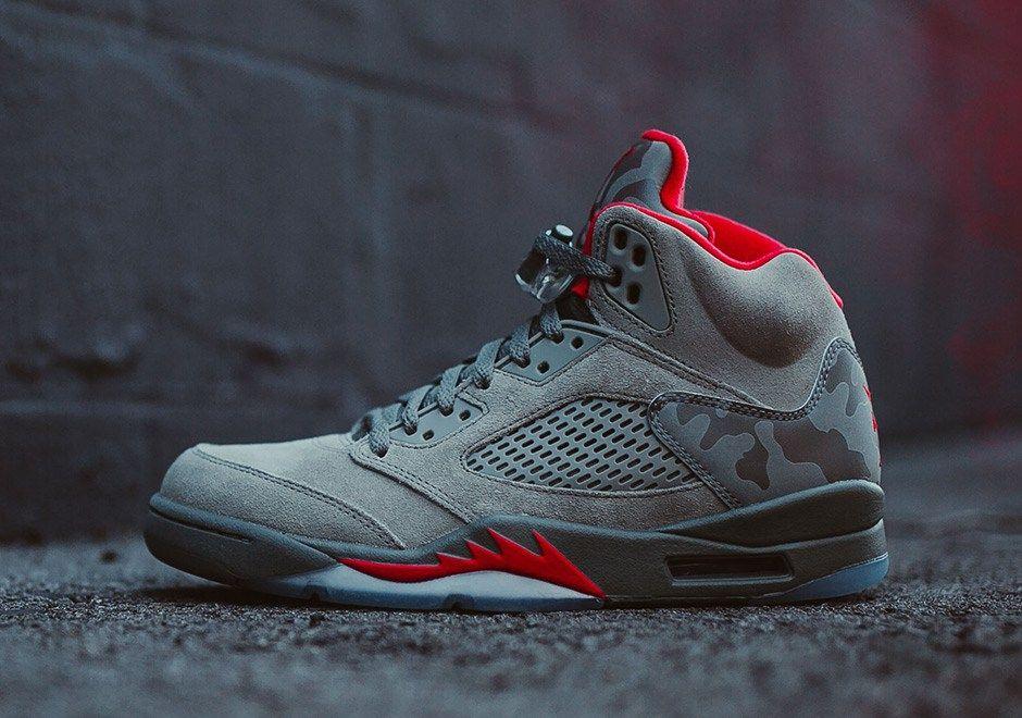 Cheap Air Jordans 5 Black Camouflag Shoes