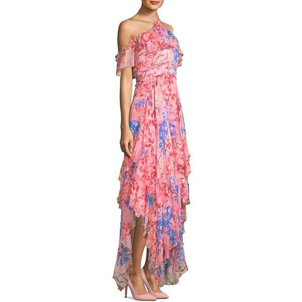 c142acf99f Alice + Olivia Galina Handkerchief Maxi Dress ( 795) ❤ liked on Polyvore  featuring dresses