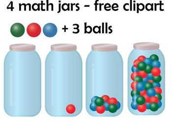 FREE math jars clipart.  UPDATED!