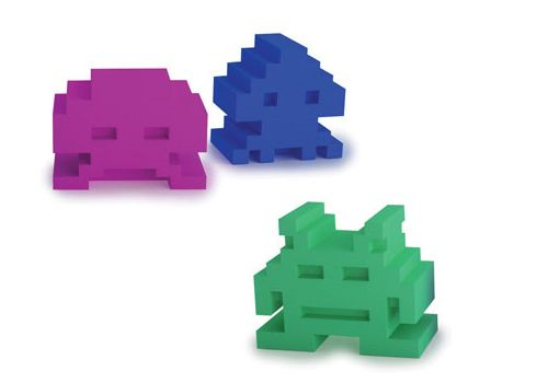 Space Intruders Eraser Set