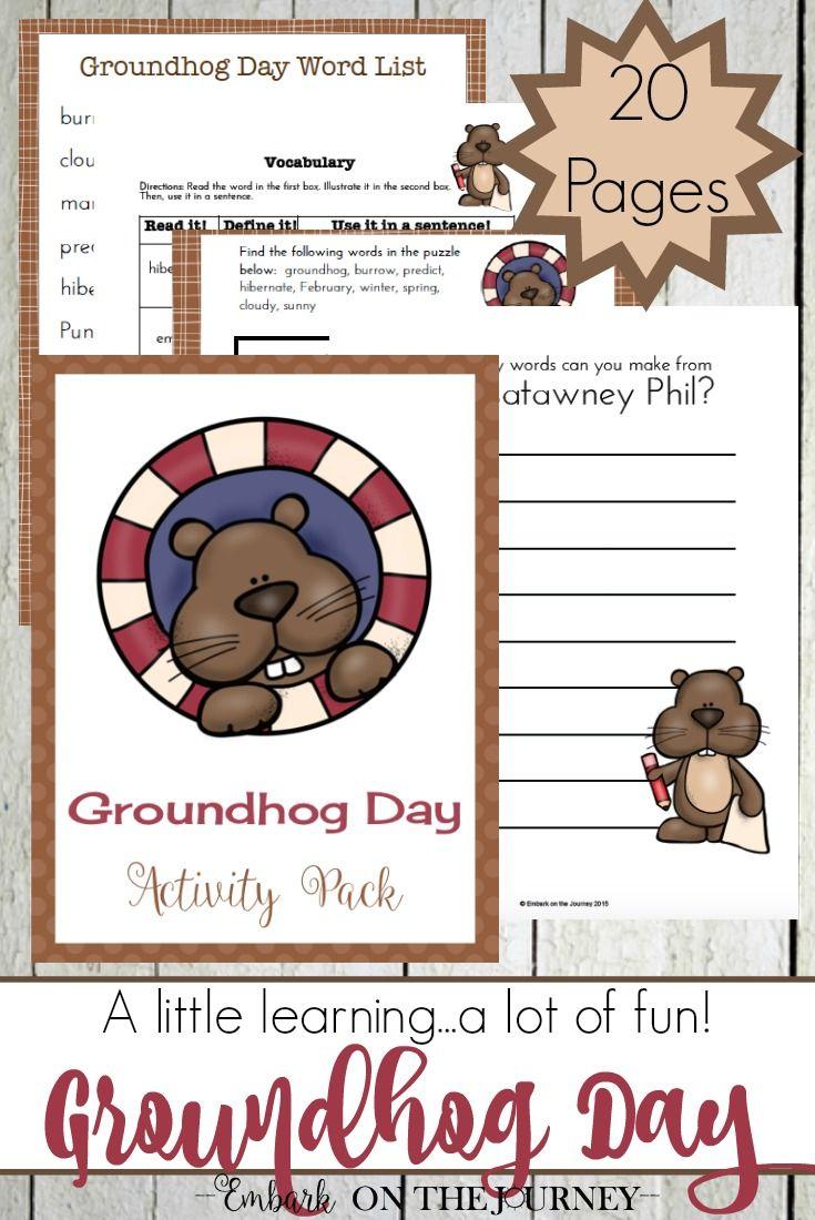 Printable Groundhog Day Activities And Hands On Fun For Kids Groundhog Day Activities Groundhog Day Preschool Worksheets [ 1100 x 735 Pixel ]