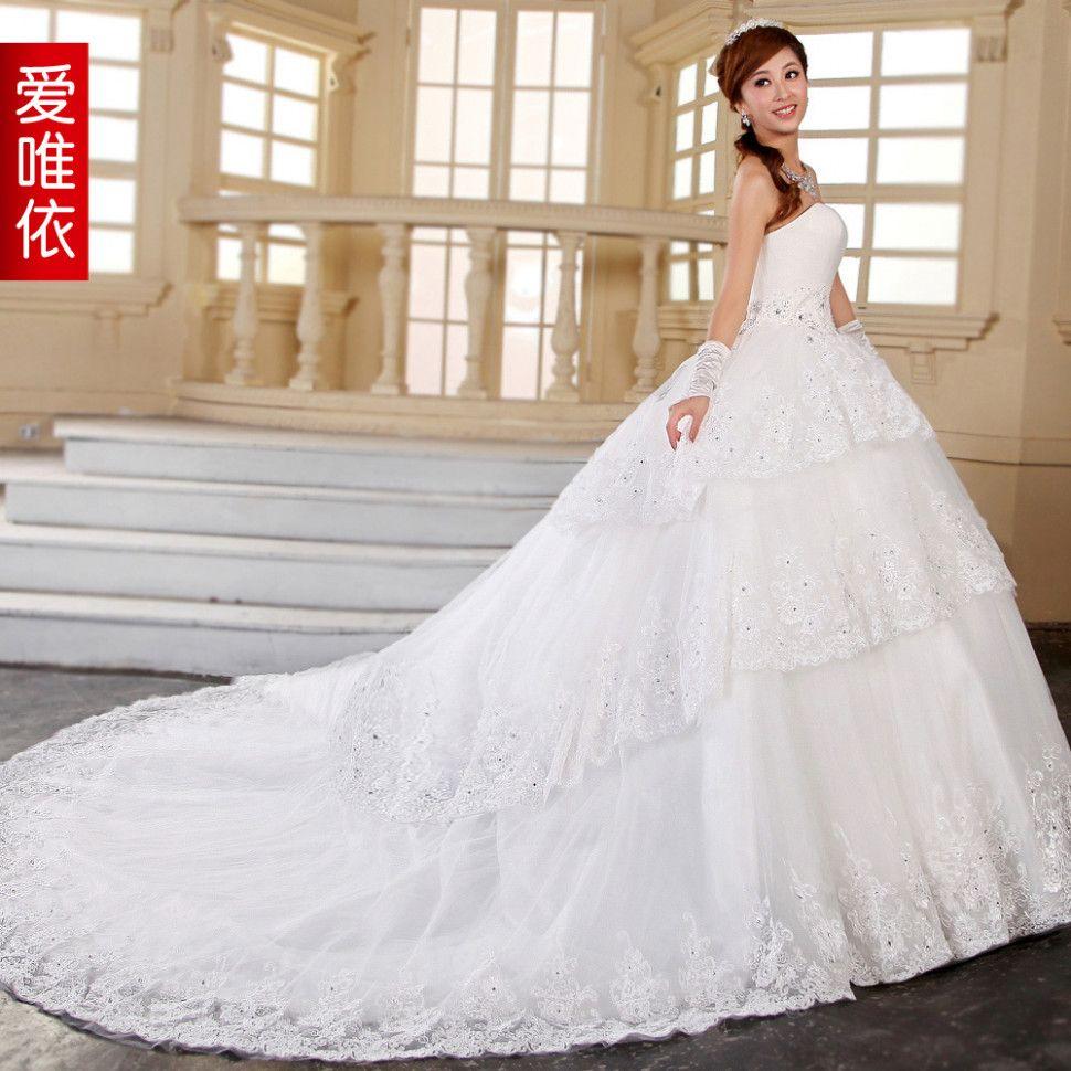 Big wedding dresses with long trains big wedding dresses