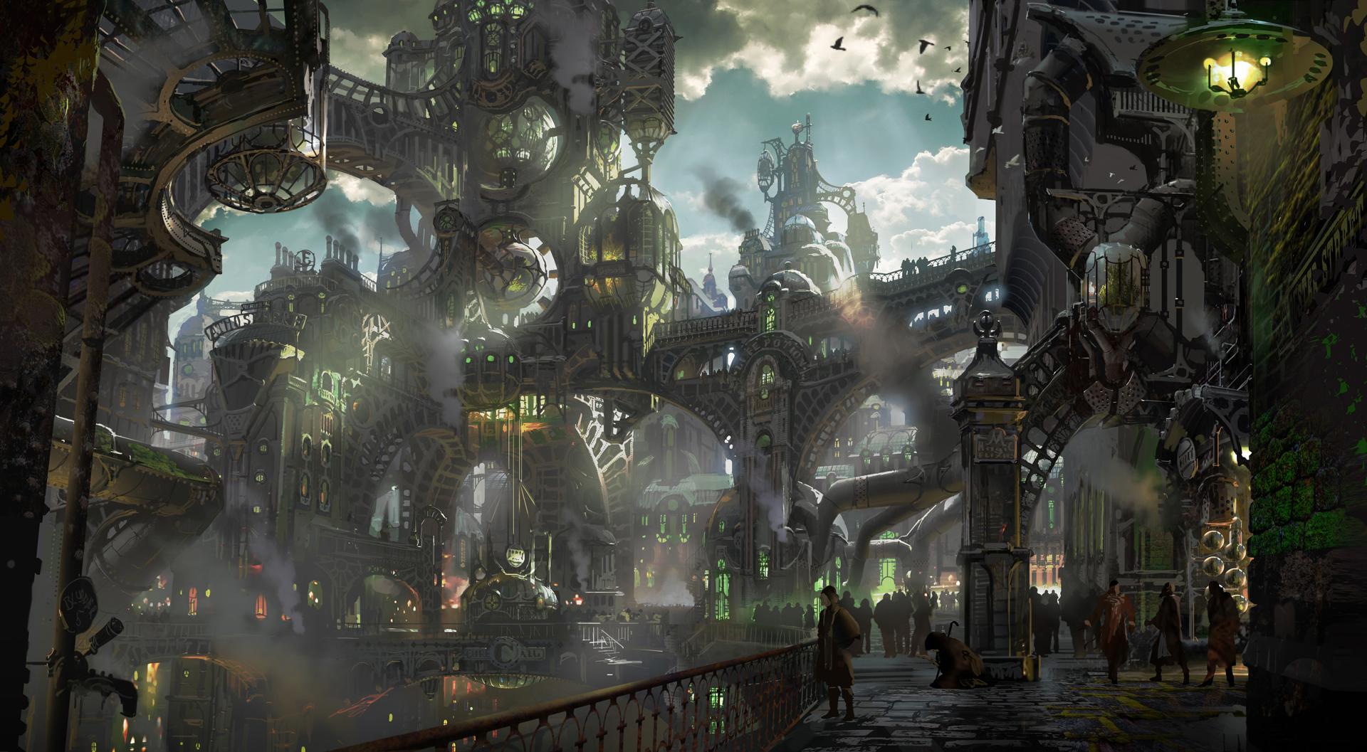 Pin By Peter Burroughs On League Of Legends Environment Art Steampunk City League Of Legends Fantasy Landscape