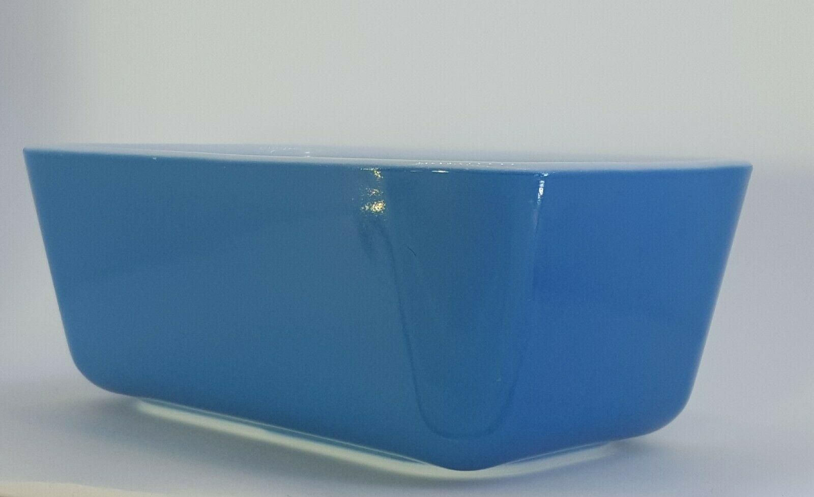 Pyrex #0502 Vintage Primary Blue Loaf Pan Baking Refrigerator Dish 1 1/2 PT EUC!  - Ideas of Pyrex #Pyrex