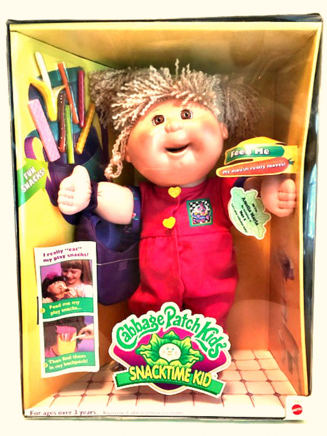 Cabbage Patch Kids Snacktime Kid Rare Doll Amelia Marla Mattel 1995 Patch Kids Cabbage Patch Kids Cabbage Patch Dolls