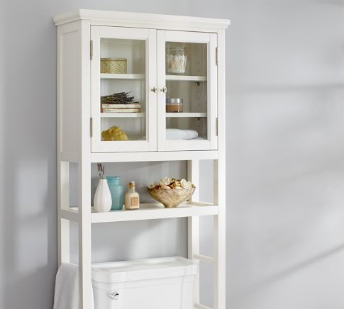 Classic Over-the-Toilet Etagere | Pottery Barn- to maximize a small ...