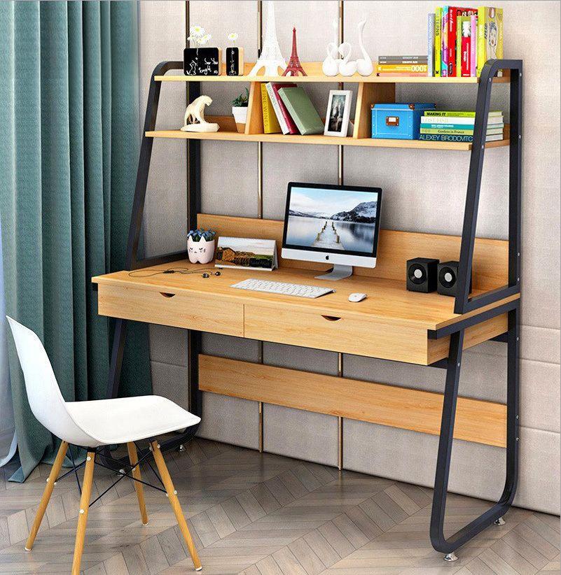 Computer Desk Table Storage Shelving Drawer Shelf Office Study Work Student Furniture Shelving Shelves Workstation Ev Dekorasyonu Evler Dekorasyon