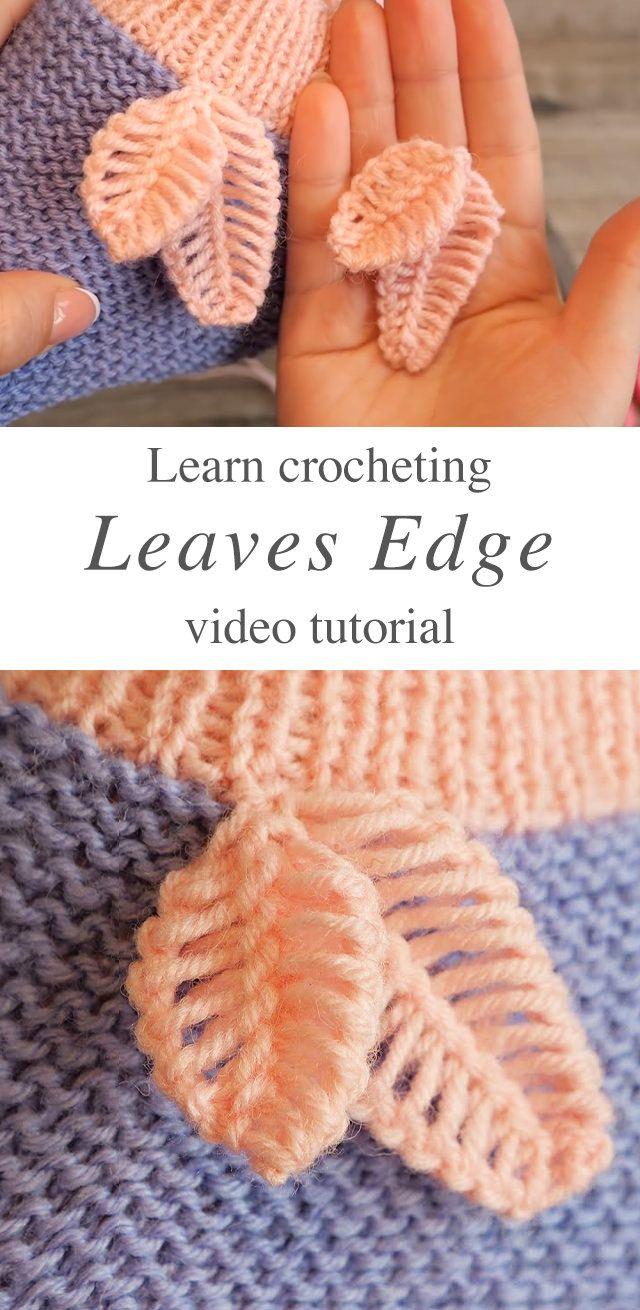 Crochet laisse bord pour la décoration | CrochetBeja   – KNITTING – STITCHES – entrelac